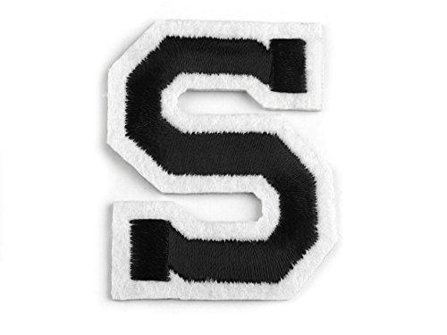 Aufbügler 5 cm hoch Buchstabe S schwarz / weiß
