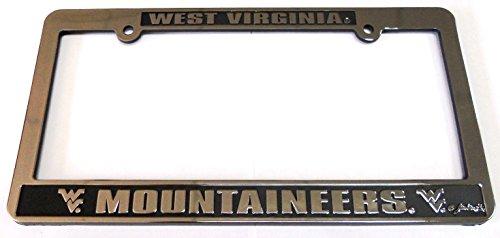 (Jenkins Enterprises West Virginia Mountaineers Silver & Black Auto License Frame)