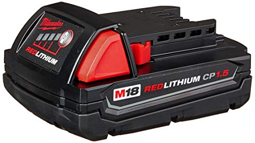 Milwaukee M18 48-11-1815 Compact 18V 1.5 Amp Hour Red Lithium Ion Battery w/ Onboard Fuel Gauge