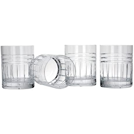 Reed Barton Tempo Double Old Fashion Glasses Set Of 4