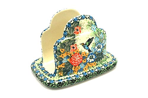 Polish Pottery Napkin Holder - Unikat Signature - U3271