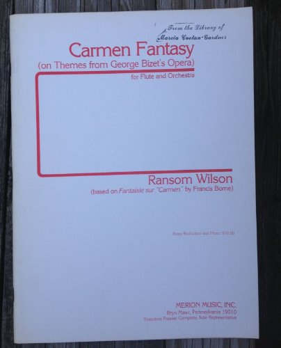 Carmen Sheet Music (Carmen Fantasy (on Themes from George Bizet's Opera) for Flute and Orchestra ((based on Fantaisie sur