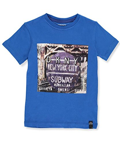 DKNY Big Boys' T-Shirt (Sizes 8-20) - Blue, (Dkny Kids Clothing)