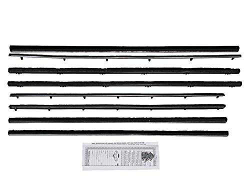 New 1964-65 Ford Falcon, Mercury Comet 2 Door Quarter Inner Outer Felt Beltline Weatherstrip Sedan 8 Piece Set (F113A)