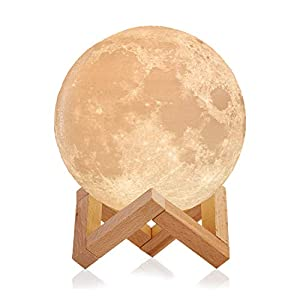 Mind-glowing 3D Moon Lamp – Rechargeable Night Light with Stand, Touch Control – Nursery Decor for Your Baby, Birthday Gift Idea for Women
