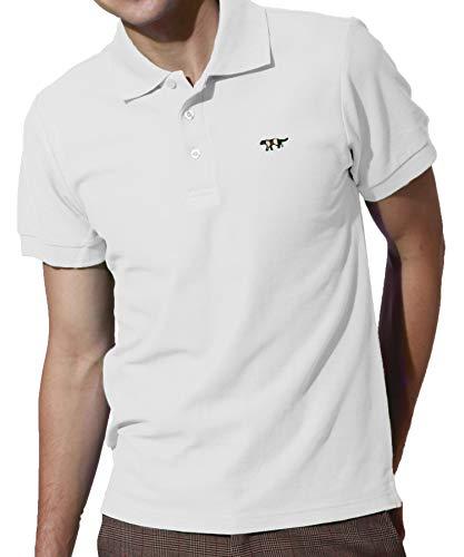 ギャップピッチャー少ないJ.STORE (ジェイストア) ポロシャツ メンズ 半袖 Vネック シンプル ワンポイント 刺繍 おしゃれ スポーツ