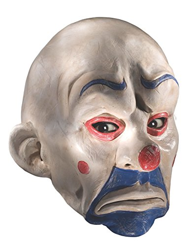 Bane Costume Halloween 2019 (Rubie's Costume Batman The Dark Knight Adult Joker Latex Clown Mask, White, One)