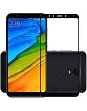 5D Screen Protector Curved Glass - Full Adhesive Covering The Entire Screen For Xiaomi Redmi 5 Plus -Black