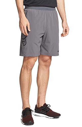 Nike Mens Vapor Flex Woven Training Shorts 789986-021 (XX-Large, Anthracite/Black)
