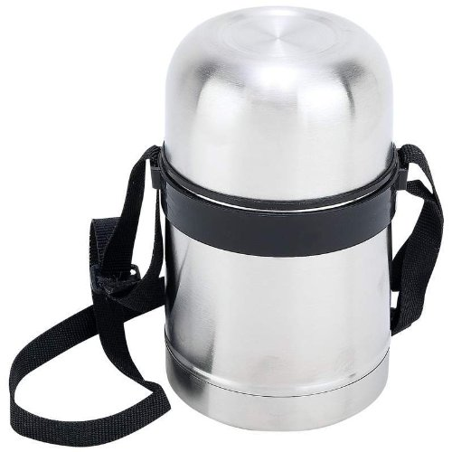 (Stainless Steel 17 oz Vacuum Soup Container with Carrying Strap)