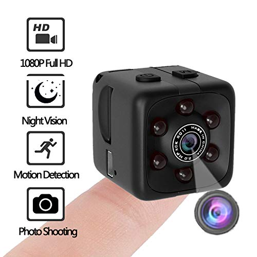 🥇 MUA868 Mini Camera | Portable Cop Camera | 1080P Night Vision Sports Car DVR Cam with Motion Detection and Loop Recording for Nanny/Housekeeper | Security Small Camera