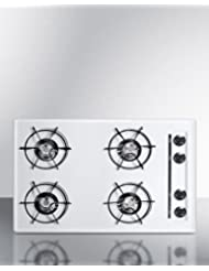 Summit WNL053 Gas Cooktops, White