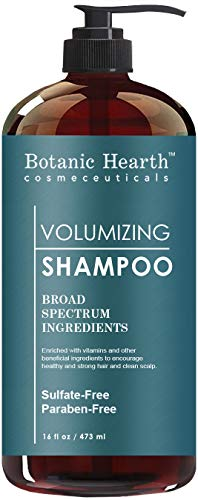 BotanicHearth Volumizing Hair Loss Shampoo - Biotin, Rosemary Oil and Growth Promoting Natural Ingredients, Sulfate Free, 16 fl oz