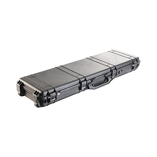 Pelican 1750 Large Rolling Long Gun Case with Foam, Black