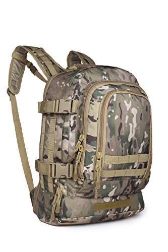 (Kiwicomp Military 3 Day Expandable Tactical Rucksacks Backpacks with Grenade Survival Kit For Paintball Hiking Climbing Shooting Camping Outdoor Sports - COLOR MULTICAM )