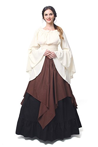 NSPSTT Womens Renaissance Medieval Costume Dress Gothic Victorian Fancy Dresses