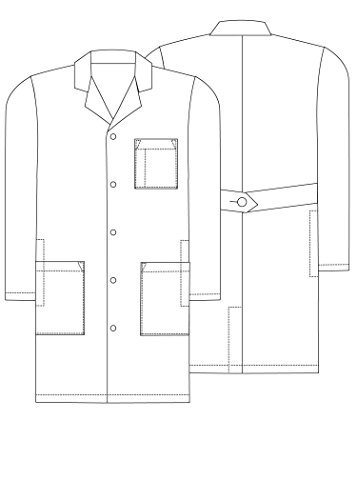 Adar Universal Mens 39'' Labcoat with Inner Pockets - 803 - Black - 40 by ADAR UNIFORMS (Image #3)
