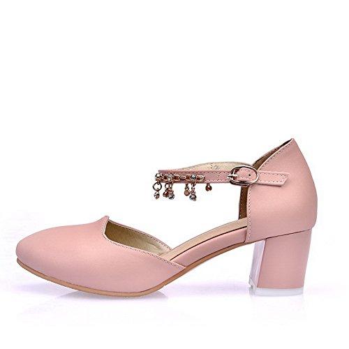 BalaMasa Womens Sandals Closed-Toe Huarache Urethane Sandals ASL04718 Pink O1V26