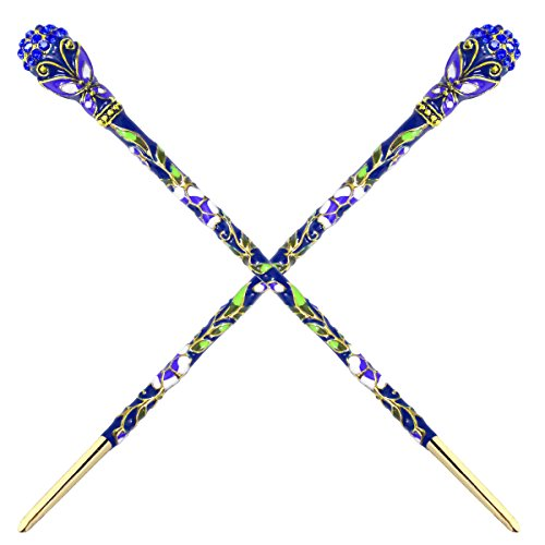 Fashion & Lifestyle 2 Count Hair Decor Chinese Traditional Style Hair Sticks Shawl Pins Picks Pics Forks for Women Girls Hair Updo Making Accessory 6