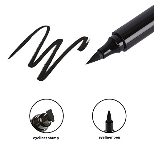Eyeliner Stamp Cat Eye Waterproof 2 in 1 Natural Eyeliner, Easy Eye Makeup Eyeliner Wing Stamp (Classic Black)