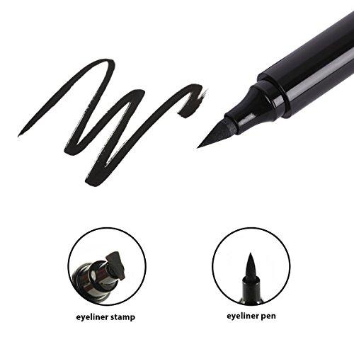 Eyeliner Stamp Cat Eye Waterproof 2 in 1 Natural Eyeliner, Easy Eye Makeup Eyeliner Wing Stamp (Classic Black)