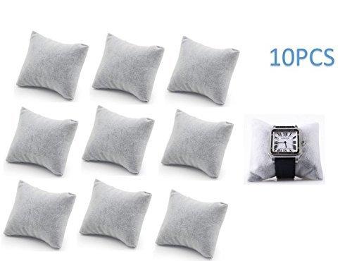 P2P@zita 10-pieces Velvet Small Bracelet /Watch Pillow Jewelry Displays (Black) (Gray)