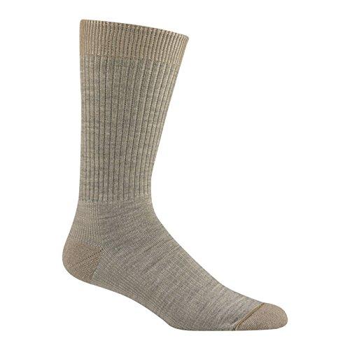 (Wigwam Men's / Women's Everyday Fusion Crew Socks, Pair,Khaki,Large)