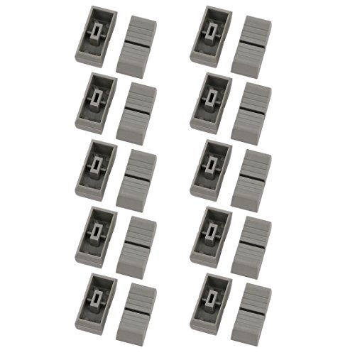 uxcell 20pcs 11mm x 24mm x 10.8mm Plastic Slider Fader Knob Gray for -