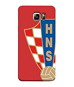 ColorKing Football Croatia 07 Red shell case cover for Samsung S6 Edge Plus
