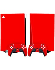 Skin for Playstation 5(PS5) Digital Disk Version, for PS5 Console and Controllers Skin Vinyl Sticker Decal Cover A-Disk Edition