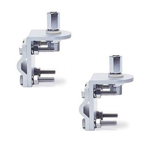 Pro Trucker (Lot of 2) 3 Way Aluminum Cb or Ham Antenna Aluminum Mirror Mount with (Aluminum Antenna Mount)