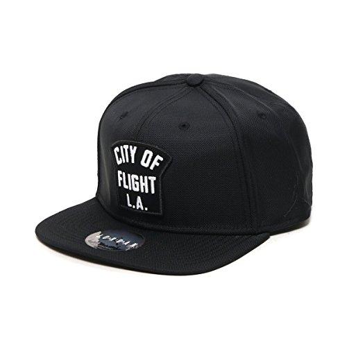 0cc275af246 ... czech nike mens jordan jumpman pro city of flight snapback hat  adjustable black white at amazon