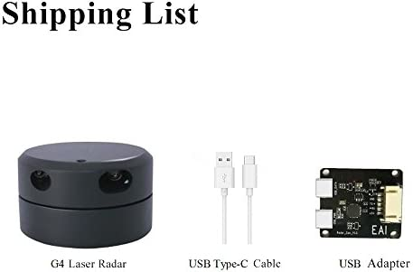 youyeetoo LIDAR-053 EAI YDLIDAR 360 ° Lidar G4 - Telemetro Laser Lidar, Scanner Laser 2D per Ros Slam Robot spazzamento e Posizionamento