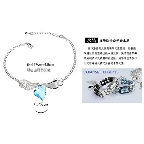 8e16f8dcbec2 Cristal de Swarovski Morden de joyas Sweet Love Angel Collar ...