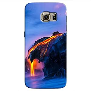 Cover It Up - Lava And Sea Galaxy S7 Hard Case