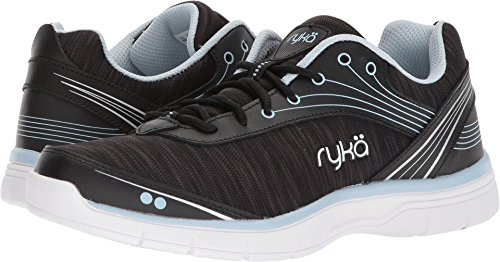 Ryka Women's Destiny Cross Trainer, Black/Silver, 5 M US by Ryka