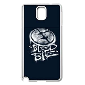 Samsung Galaxy Note 3 Cell Phone Case White Bleed Blue White Variant PHE Phone Case For Men Plastic