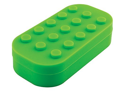 Multi-Compartment Silicone Concentrate Container - Assorted Colors (Green)