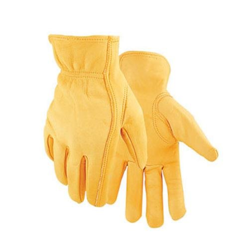 - Golden Stag Driver Gloves Deerskin Large Rolled Gold