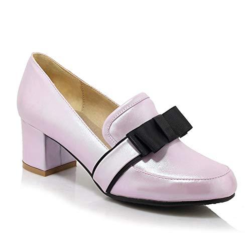 Chunky Shoes Polyurethane PU Spring Heel Pink amp; Summer Pink Heels ZHZNVX Dark Purple Comfort Women's Gold 4awq5z