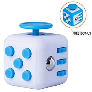Fidget Cube Prime and Rubber Protective Cover - Relieve Stress, Anxiety, ADD, ADHD, Autism and Boredom for Work, School, Class - Focus Gift Toy for Children and Adults