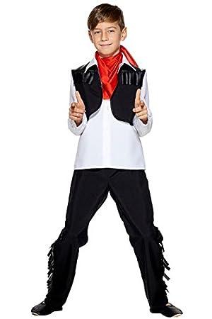 Aec cu260242/116 Disfraz niño Vaquero, Negro, 116 cm: Amazon.es ...