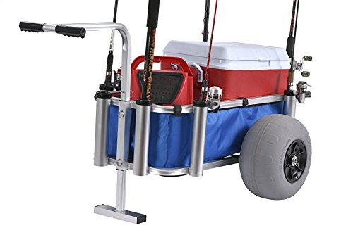 "Muscle Carts HDBC-Blue Fish and Marine Cart, 27"" Height, 40"