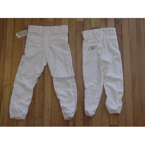 2-pk Reebok Premium Baseball Pants White Youth Medium free shipping