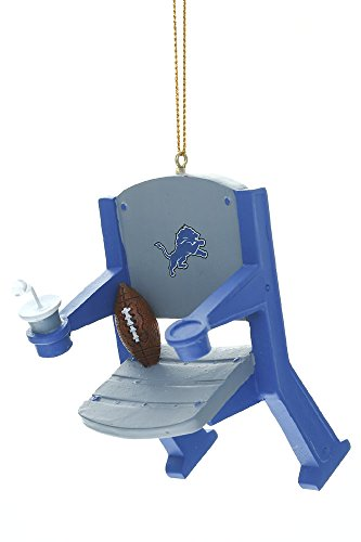 Team Sports America NFL Detroit Lions Stadium Chair Christmas Ornament, Small, Multicolored
