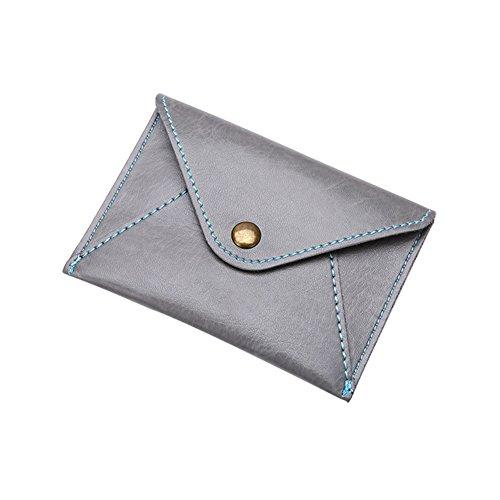 Yamalans Matte Ultra-Thin Mini Coin Purse,Unisex Faux Leather Envelope Card Bag Wallet Gift Light (Ultra Thin Envelope)