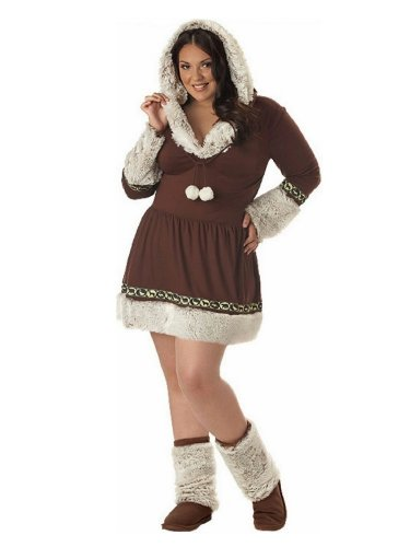 California Costumes Womens Plus Size Eskimo Kisses Costume With Boot Covers 3X ()