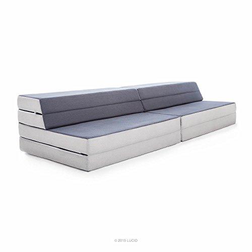 convertible furniture space saver lucid kingtwin xl convertible folding foam mattresssofa folds to in twin mattress king mattress or sofa furniture amazoncom