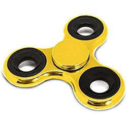 Spinners Chromed Finger Toy Stress Reducer Fidget Spinner, Gold