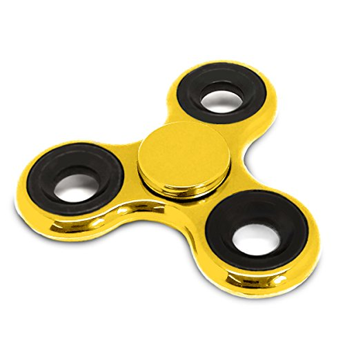 Spinners Chromed Finger Toy Stress Reducer Fidget Spinner, Gold (Gold Spinner)